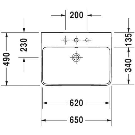 Lavoar Duravit ME by Starck 65x49cm