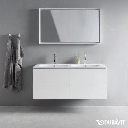 Lavoar dublu Duravit ME by Starck 130x49cm, finisaj WonderGliss, montare pe mobilier