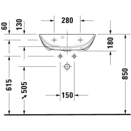 Lavoar Duravit ME by Starck Compact 60x40cm