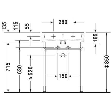 Lavoar Duravit Vero Air 60x47cm, montare pe mobilier