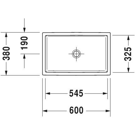 Lavoar tip bol Duravit Vero Air 60x38cm, fara preaplin