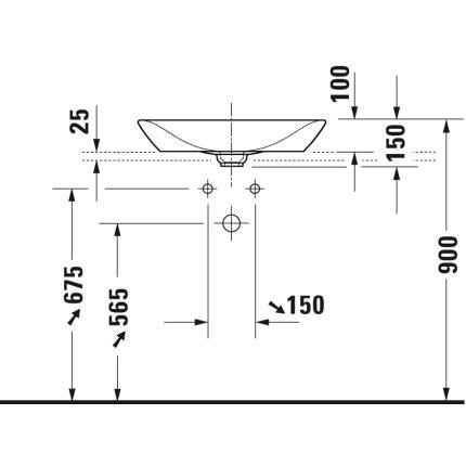 Lavoar tip bol Duravit Viu 60x41.5cm, fara preaplin