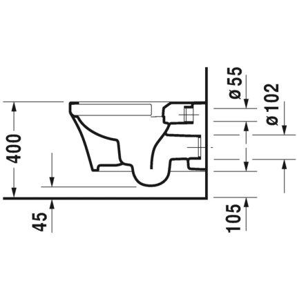 Vas WC suspendat Duravit P3 Comforts Rimless Hygiene Glaze