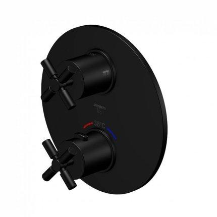 Baterie cada Steinberg seria 250 termostatata, cu doi consumatori, montaj incastrat, necesita corp ingropat, Matt Black