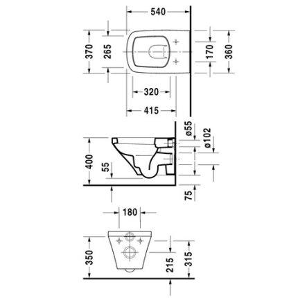Vas WC suspendat Duravit Durastyle