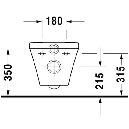 Vas WC suspendat Duravit Durastyle Rimless 62x37cm
