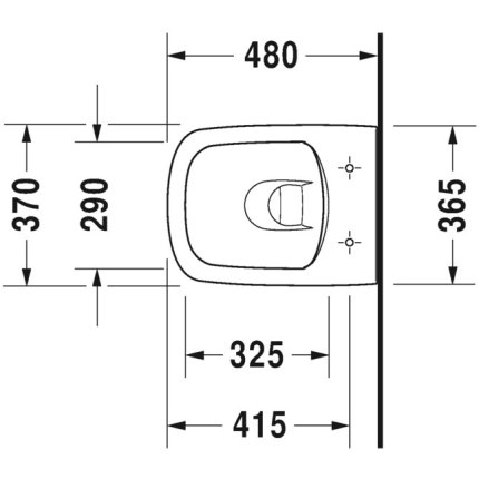 Vas WC suspendat Duravit Durastyle Rimless Compact 48x37cm