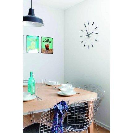 Ceas de perete NeXtime Plug Inn 58cm, silver