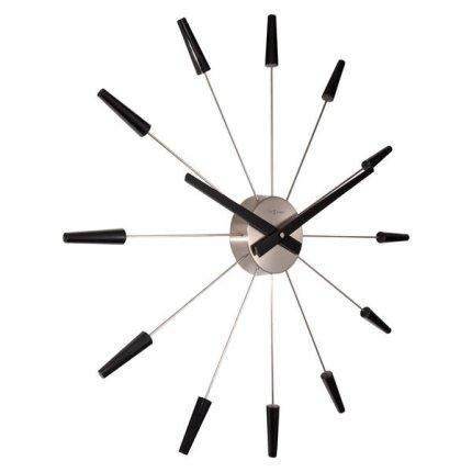 Ceas de perete NeXtime Plug Inn 58cm, negru