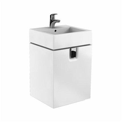 Dulap baza Kolo Twins 50cm, un sertar, alb lucios
