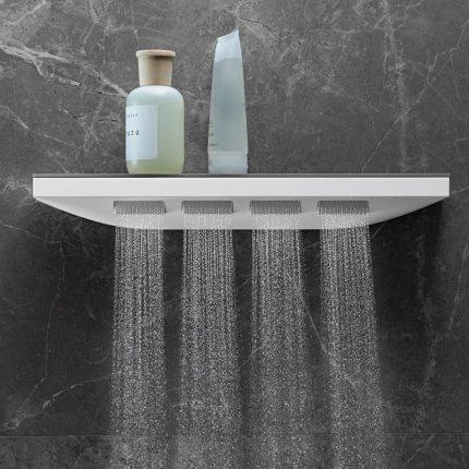 Dus de perete Hansgrohe Rainfinity Shoulder 500 crom si raft sticla mirror