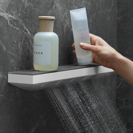 Dus de perete Hansgrohe Rainfinity Shoulder 500 alb mat si raft sticla grafit