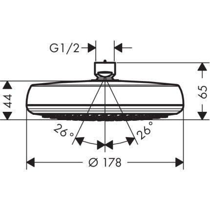 Palarie de dus Hansgrohe Crometta 160 cu 1 jet, 18cm, crom