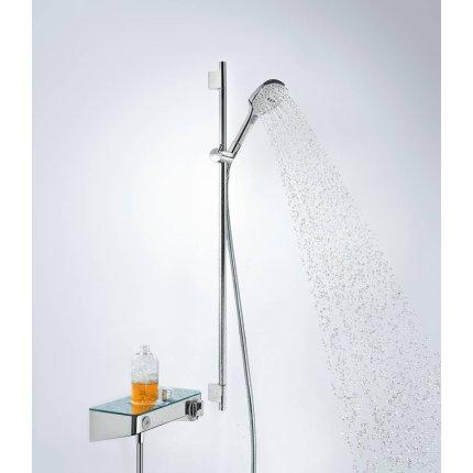 Set de dus Hansgrohe Raindance Select E 120 EcoSmart 9l/min, cu 3 jeturi si bara Unica''S Puro 0.9