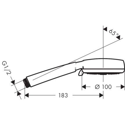 Para de dus Hansgrohe Crometta 100 Vario EcoSmart 6l/min, cu patru tipuri de jet