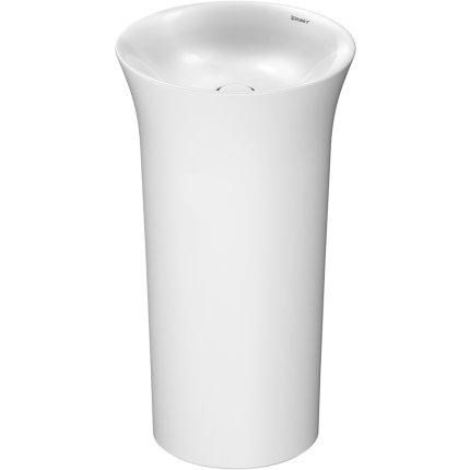 Lavoar pe pardoseala Duravit White Tulip 50cm, fara orificiu baterie, fara preaplin, ventil ceramic, alb