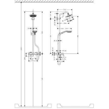 Showerpipe Hansgrohe Croma 100, crom