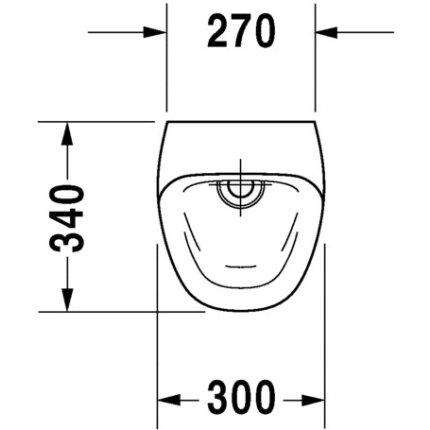 Urinal Duravit Durastyle Rimless cu alimentare prin spate