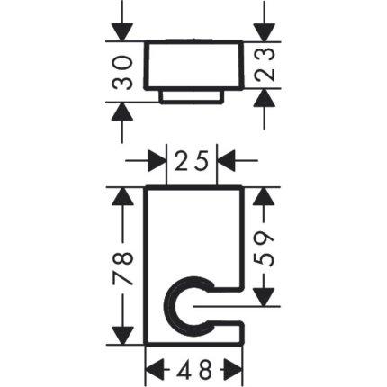 Set baterii 3in1 Hansgrohe Talis E Negru Mat cu baterie de lavoar, baterie de cada si set de dus cu agatatoare