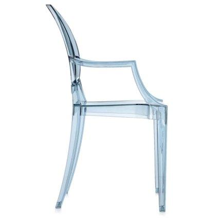 Scaun copii Kartell Lou Lou Ghost design Philippe Starck, bleu transparent
