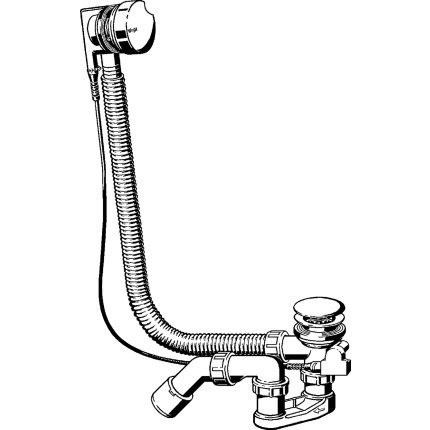 Sifon cu preaplin pentru cada Viega Simplex, material ABS