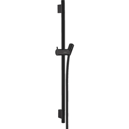 Bara de dus Hansgrohe Unica S Puro 65cm cu furtun 160cm, negru mat