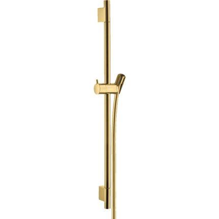 Bara de dus Hansgrohe Unica S Puro 65cm cu furtun 160cm, gold optic lustruit