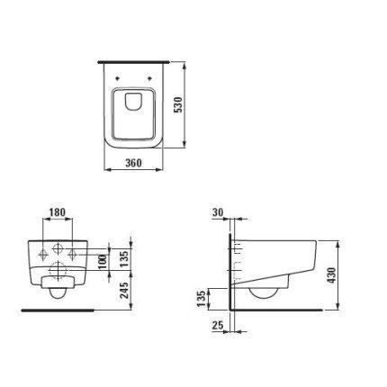 Vas WC suspendat Laufen Pro S