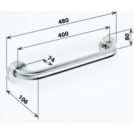 Bara suport ajutatoare 40 cm Bemeta Help crom mat