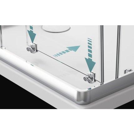 Cabina de dus patrata Radaway Premium Plus C 1700 90x90 cm, pentru cadite inalte