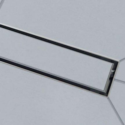 Pachet rigola de dus Wirquin Venisio SLIM cu capac inox 30cm