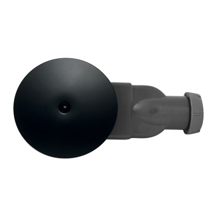 Sifon cadita de dus Wirquin PRO Slim Black Touch cu membrana anti-miros