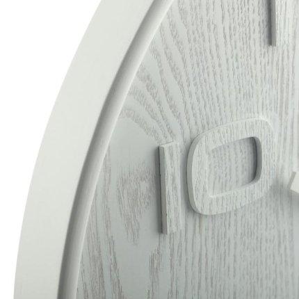 Ceas de perete NeXtime Wood Wood 35cm, alb