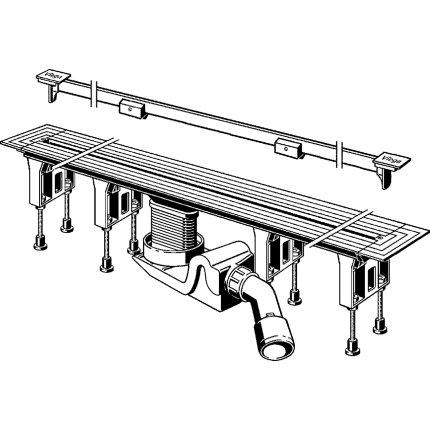 Pachet rigola dus Viega Advantix Vario cu capac ajustabil pe lungime 30-120 cm