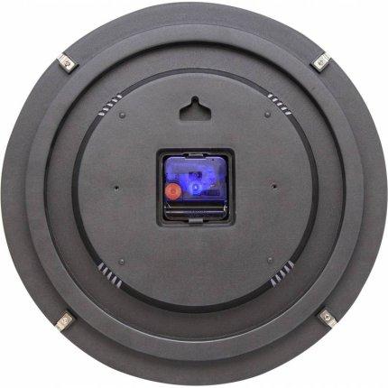 Ceas de perete NeXtime Dots Dome 35cm, negru