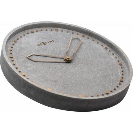 Ceas de perete NeXtime Cross Grey 35cm