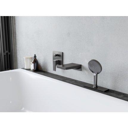 Pipa cada Hansgrohe Metropol montaj incastrat 18.5 cm, negru mat