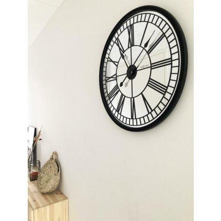 Ceas de perete NeXtime Cleopatra Mirror 56cm, negru