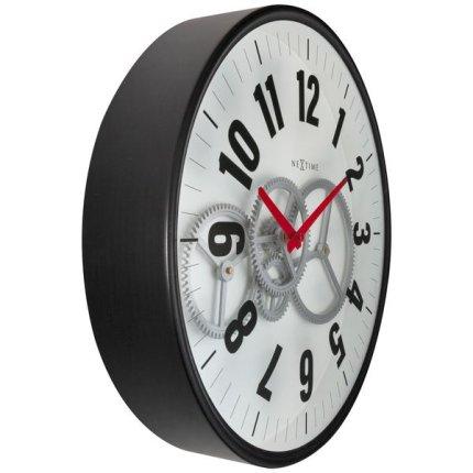 Ceas de perete NeXtime Modern Gear 36cm, alb