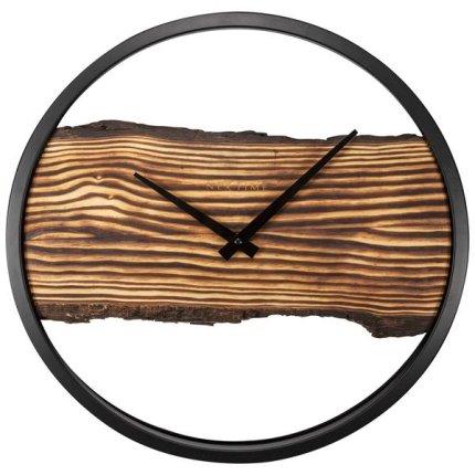 Ceas de perete NeXtime Forest 45cm, lemn