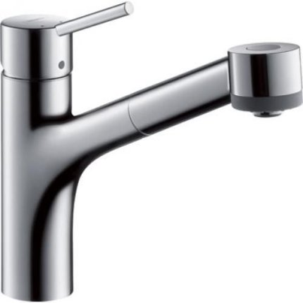 Baterie bucatarie Hansgrohe Talis S, dus extractibil, crom