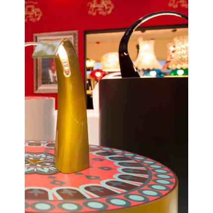 Veioza Kartell Taj Mini design Ferruccio Laviani, LED 2.8W, h33cm, negru mat
