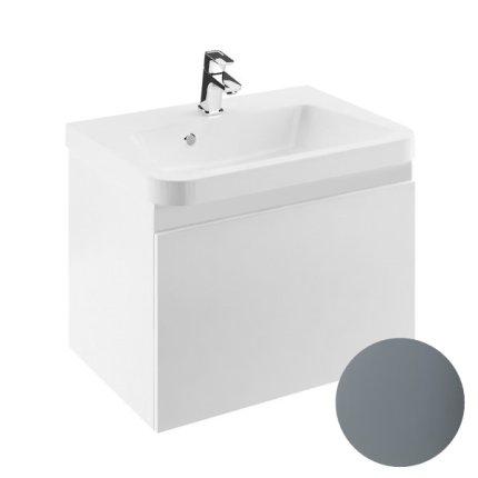 Dulap baza pentru lavoar Ravak Concept 10° cu un sertar, 55x45x45cm, gri
