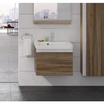 Dulap baza pentru lavoar Ravak Concept 10° cu un sertar, 55x45x45cm, nuc inchis