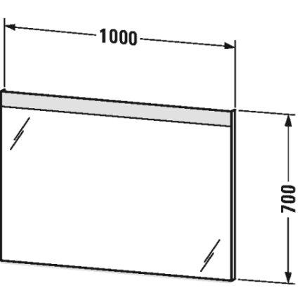 Oglinda cu iluminare Duravit Best 70x100x3.5mm