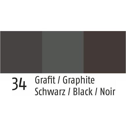 Pled Sander Hossa 125x150cm, 34 graphite