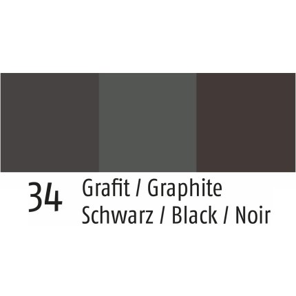 Husa perna Sander Jacquard Aurora 50x50cm, 34 graphite