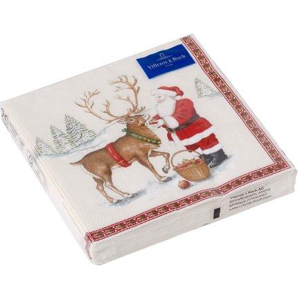 Set servetele hartie Villeroy & Boch Winter Specials C-Napkin Reindeer 25x25cm