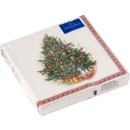 Set servetele hartie Villeroy & Boch Winter Specials L-Napking fir tree 33x33cm
