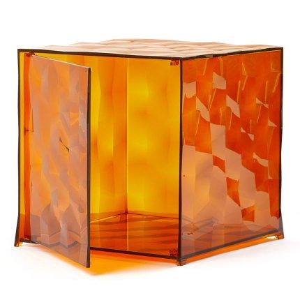 Etajera modulara cu usa Kartell Optic design Patrick Jouin, 40x40x41cm, maro